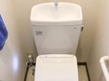 トイレリフォーム高性能なウォシュレットがついた使いやすいトイレ